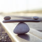 Symbol Scales is made of stones of various shapes
